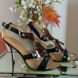 Tortoise Color  Boho Style Cage Dress Sandals